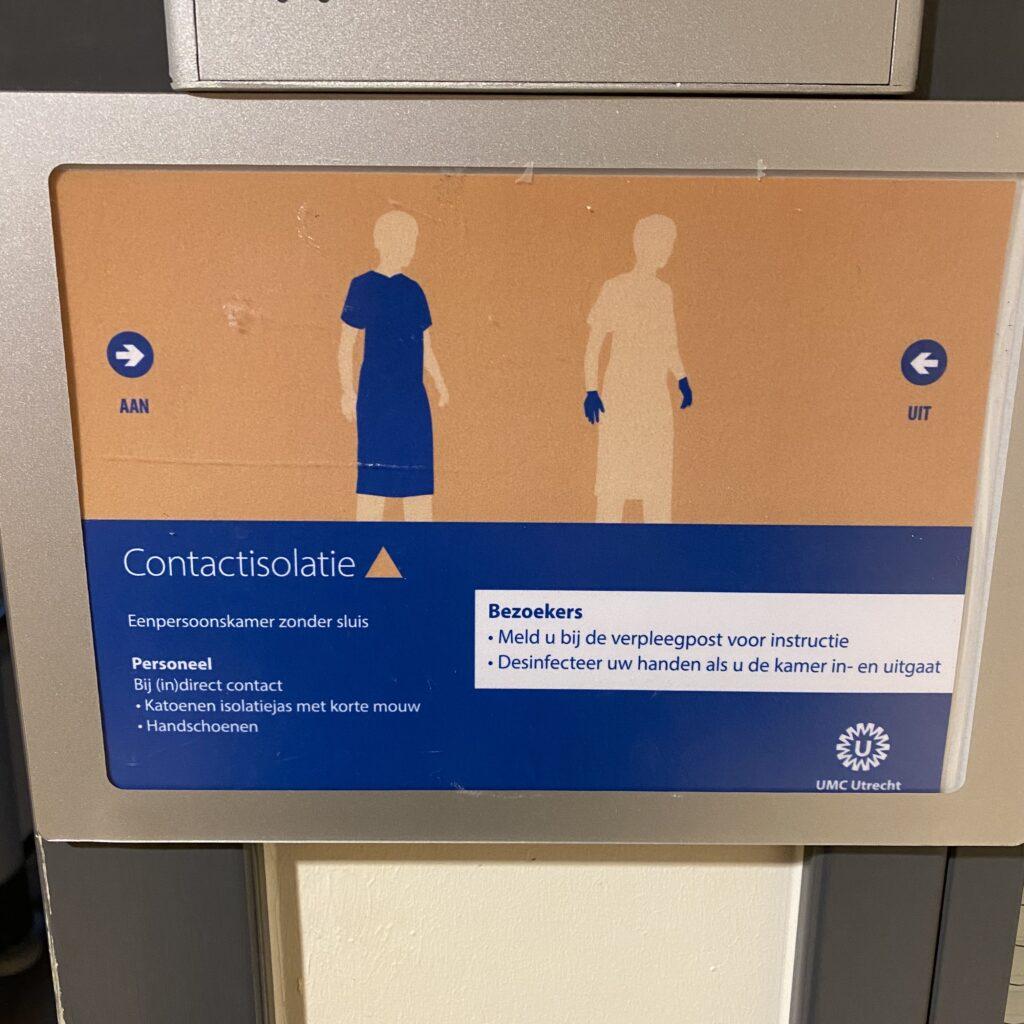 Contactisolatie in het ziekenhuis